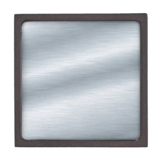 Brushed Silver Background Premium Trinket Box