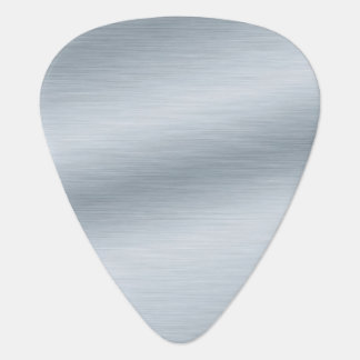 Brushed Silver Look Background Art Guitar Pick