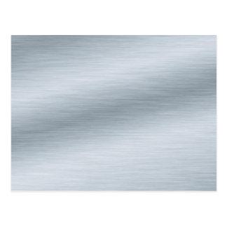 Brushed Silver Look Background Art Postcard