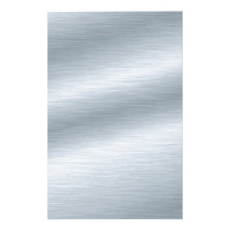 Brushed Silver Look Background Stationery