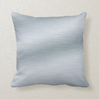 Brushed Silver Look Background Throw Pillow