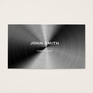 Brushed silver metal business card
