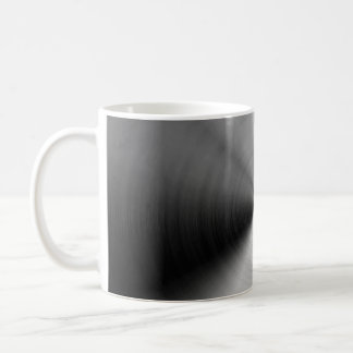 Brushed silver metal coffee mug