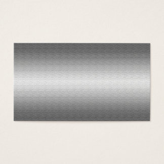 Brushed Silver Metal Look Business Cards