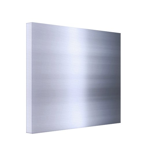 Brushed Silver Metal Textured Canvas Print