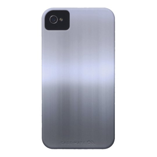 Brushed Silver Metal Textured iPhone 4 Cover