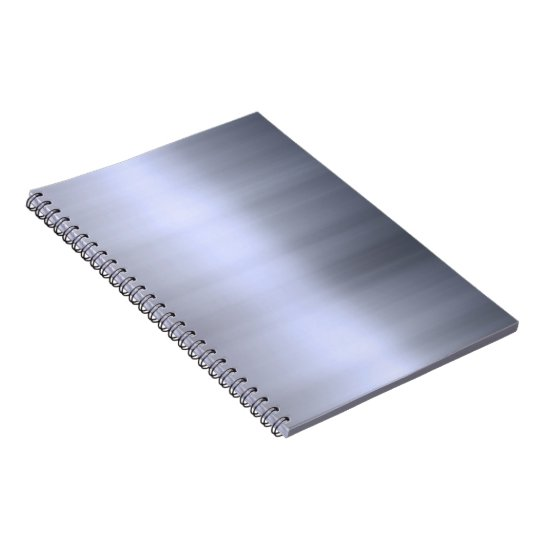 Brushed Silver Metal Textured Notebook
