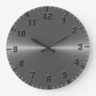 Brushed silver metallic clocks
