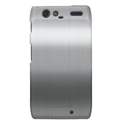 Brushed Stainless Droid RAZR Covers