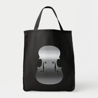 Brushed Stainless F-Holes Canvas Bags