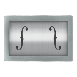 Brushed Stainless F-Holes Belt Buckles