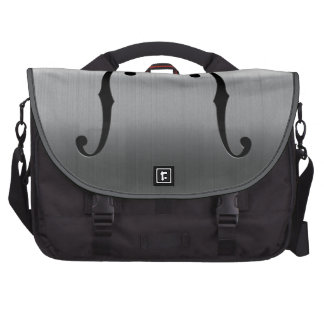 Brushed Stainless F-Holes Laptop Commuter Bag
