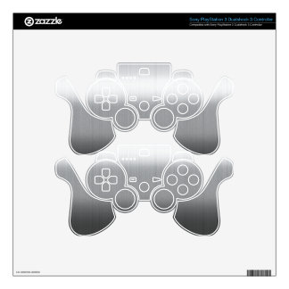 Brushed Stainless PS3 Controller Decals