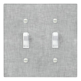 Brushed Stainless Steel Look Light Switch Cover