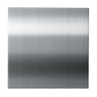 Brushed Stainless Ceramic Tiles