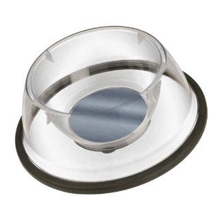Brushed Steel Background Pet Bowl