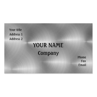 Brushed steel business card templates