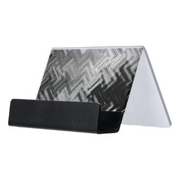 Professional Business Brushed Steel Desk Business Card Holder