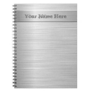 Brushed Steel Effect - Notepad Notebook