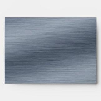 Brushed Steel Elegant Envelopes