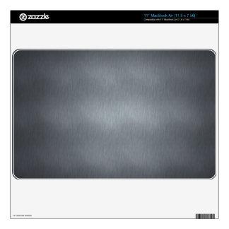 Brushed Steel Laptop Cover MacBook Decals