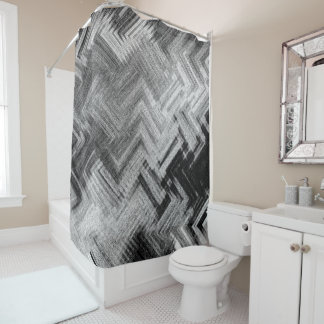 Brushed Steel Shower Curtain by Artist C.L. Brown