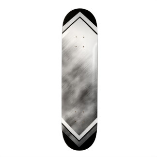 Brushed Steel Speed Look Gray White Customizable 1 Skateboard Deck