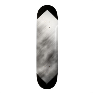 Brushed Steel Speed Look Gray White Customizable 3 Skateboard Deck