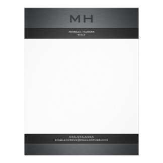 Brushed Steel Two Shades with Your Name Letterhead