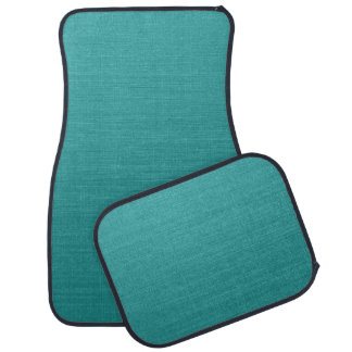 Brushed Teal Metal Look kash001  Truck and Car Mat