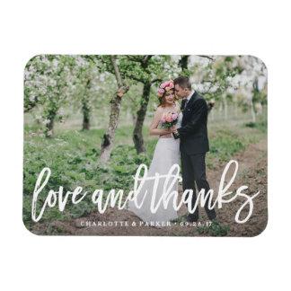 Brushed Wedding Thank You Photo Magnet