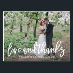 "Brushed Wedding Thank You Photo Post Card<br><div class=""desc"">This design features a hand lettered brushed font overlay to showcase your photo. For more advanced customization of this design,  simply select the &quot;Customize It&quot; button above!</div>"