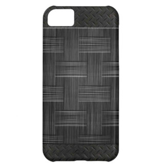 Brushed Woven leather metal iPhone 5C Case