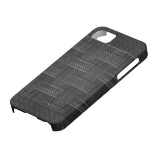 Brushed Woven leather metal iPhone SE/5/5s Case