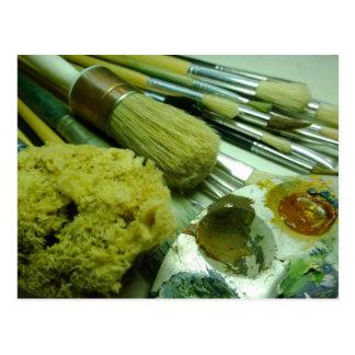Brushes & Paint Postcard