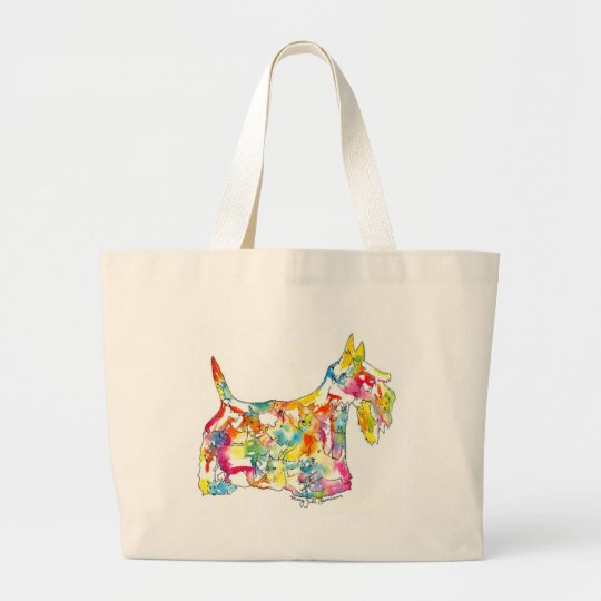 Brushfolks Scotties in A Scotty Large Tote Bag