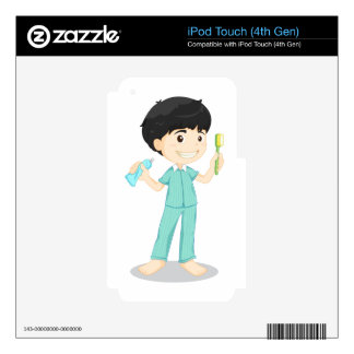 brushing teeth iPod touch 4G skin