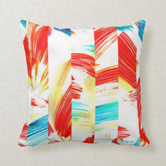 Brushstroke Abstract with floral undertones Throw Pillow