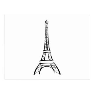 Brushstroke Eiffel Tower Postcards