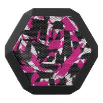 Brushstroke Pattern Black Bluetooth Speaker