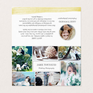 Brushstroke - Photos Professional Photographer Business Card