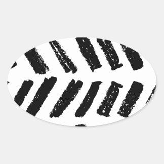 Brushstroke Slash Pattern Oval Sticker