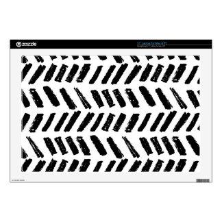 Brushstroke Slash Pattern Skin For Laptop