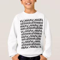 Brushstroke Slash Pattern Sweatshirt
