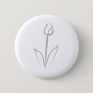 Brushstroke Tulip Button