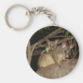 Brushtail Possums Basic Round Button Keychain