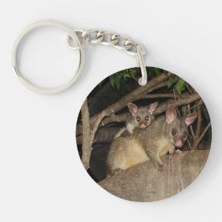 Brushtail Possums Double-Sided Round Acrylic Keychain