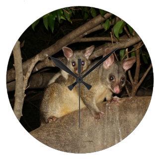 Brushtail Possums Large Clock