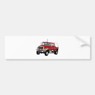 BrushTruckRed Bumper Sticker