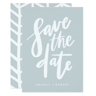 BRUSHY SCRIPT SAVE THE DATE CARD